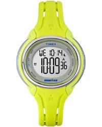 Timex Women's Rubber Watch - Metallic
