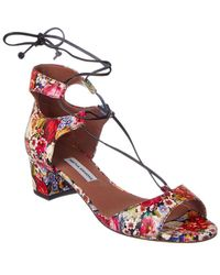 Tabitha Simmons Tallia Tapestry Lace-up Pump - Pink