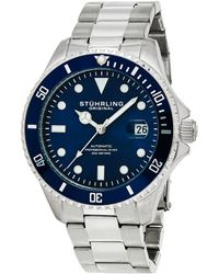 Stuhrling Original Men's Aquadiver Watch - Multicolor