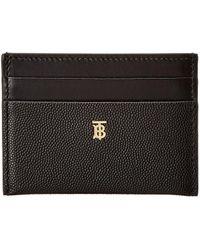 Burberry Monogram Motif Leather Card Case - Black