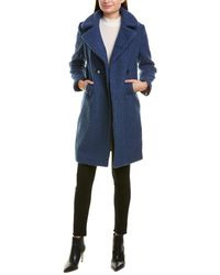 Sam Edelman Double-breasted Coat - Blue