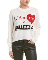 Dolce & Gabbana Graphic Cashmere Pullover - White