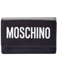 Moschino Logo Print Leather French Wallet - Multicolour