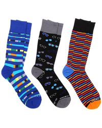 Unsimply Stitched 3-pack Of Socks - Blue
