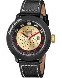 Gevril Watches - Alberto Ascari Black And Yellow Gold-tone Dial Watch, 48mm - Lyst