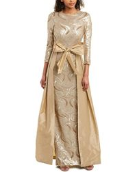 Teri Jon By Rickie Freeman Gown - Yellow