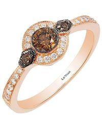 Le Vian - Chocolatier Deco Estate Vanilla Diamond, Chocolate Diamond And 14k Strawberry Gold Ring - Lyst