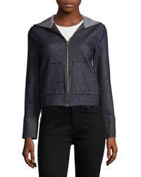 Marissa Webb Steven Double Hood Cotton Jacket - Black