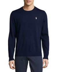 Ralph Lauren - Crewneck Wool Sweater - Lyst
