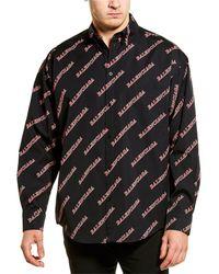 Balenciaga All Over Logo Woven Shirt - Multicolour