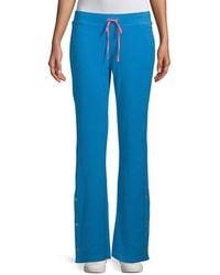 Juicy Couture Del Rey Drawstring Tearaway Pants - Blue