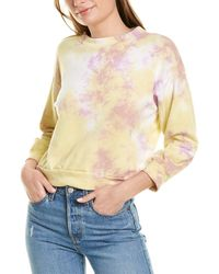 Michael Stars Sia Cropped Sweatshirt - Purple
