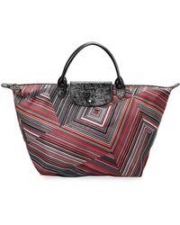 Longchamp - Le Pliage Nylon Geometric Print Tote - Lyst