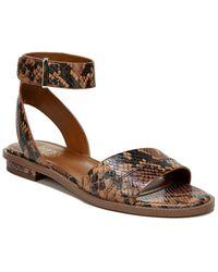 Franco Sarto Maxine Leather Sandal - Brown