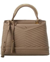 Vince Camuto Blu Leather Satchel - Brown