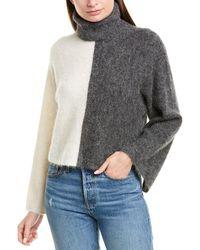 Nicholas Colorblocked Alpaca-blend Sweater - Gray