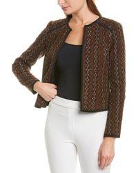 Nanette Lepore Womens Printed Windbreaker Jacket