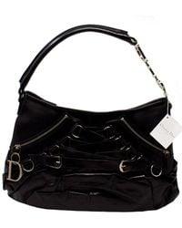 Dior Limited Edition Black Lambskin Leather John Galliano Ballet Bag