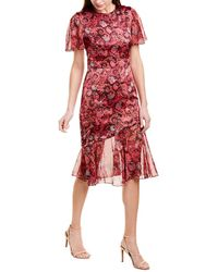 Prabal Gurung Victoria Silk Midi Dress - Pink