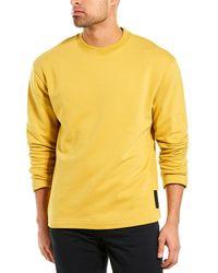 Theory Fleece Box Crewneck Sweater - Yellow