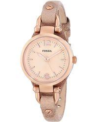Fossil Women's Georgia Mini Watch - Pink
