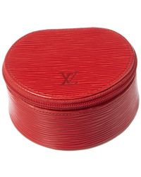 Louis Vuitton Red Epi Leather Ecrin Bijoux 10