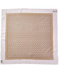 Burberry Monogram Print Silk Scarf - Pink