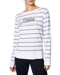 Betsey Johnson - Weekend Striped Pullover - Lyst