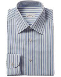 Brioni Regular Fit Dress Shirt - Blue
