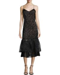 Tracy Reese - Burnout Overlay Slip Dress - Lyst