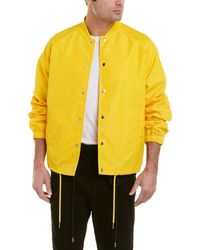 Helmut Lang Ruched Coach Jacket - Yellow