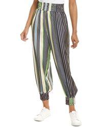 Tory Burch Silk Pyjama Pant - Multicolour
