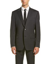 Canali Wool Suit With Flat Front Pant - Grey
