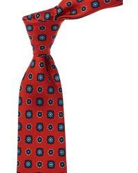 Kiton Red Silk Tie