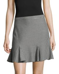 Pure Navy - Godet Mini Skirt - Lyst