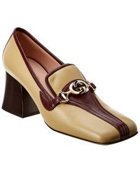 Gucci Zumi Leather Loafer - Brown