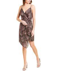 BCBGMAXAZRIA Animal-print Wrap Dress - Black