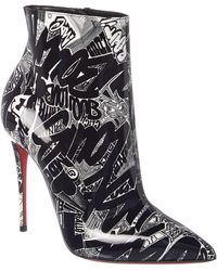 Christian Louboutin - So Kate 100 Graffiti Patent Bootie - Lyst