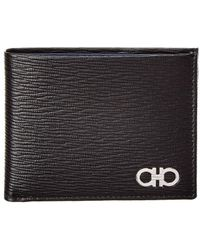 Ferragamo Revival Gancio Leather Bifold Wallet - Black