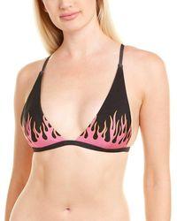 MINKPINK Twin Flame Triangle Bikini Top - Black