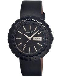 Simplify The 2100 Black Ip Stainless Steel Case Ladies Watch
