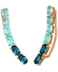 Le Vian ? 14k Rose Gold 2.35 Ct. Tw. Blue Topaz Earrings