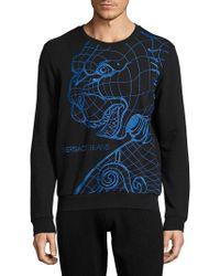 Viktor & Rolf Tiger Patterned Sweatshirt - Black
