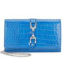 Sam Edelman - Gigi Embossed Leather Wallet - Lyst