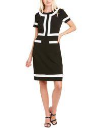 Karl Lagerfeld Crepe Sheath Dress - Black