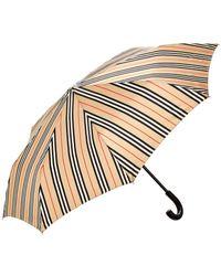 Burberry Trafalgar Vintage Check Stripe Folding Umbrella - Multicolour