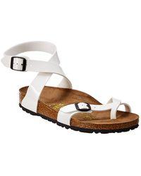 Birkenstock Yara Birko-flor Patent Sandal - White