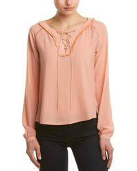 Dance & Marvel - Lace-up Top - Lyst