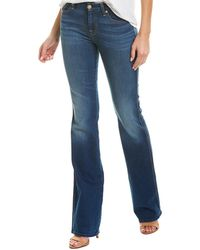 7 For All Mankind 7 For All Mankind A Pocket New Luxe Bootcut - Blue