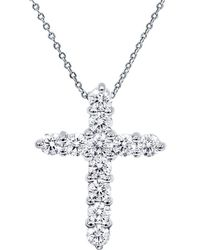 Diana M. Jewels . Fine Jewellery 18k 1.00 Ct. Tw. Diamond Cross Necklace - Metallic